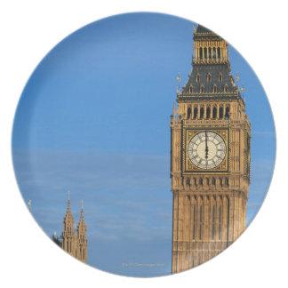 Big Ben y edificio del parlamento Plato Para Fiesta