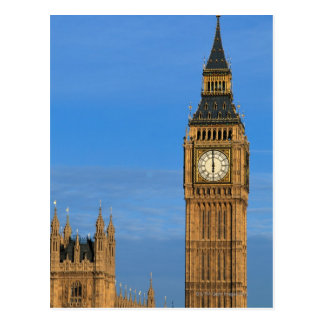 Big Ben y edificio del parlamento Postal