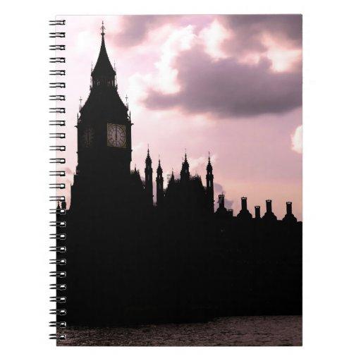 Big Ben y el parlamento Libretas Espirales