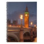 Big Ben y el puente de Westminster Libretas Espirales