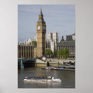 Big Ben y el río Támesis Posters