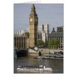 Big Ben y el río Támesis Tarjeta De Felicitación