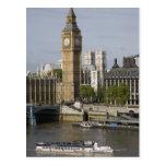 Big Ben y el río Támesis Tarjeta Postal