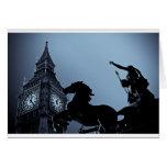 Big Ben y estatua de Boudica Tarjeta