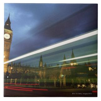 Big Ben y las casas del parlamento Azulejo Cuadrado Grande