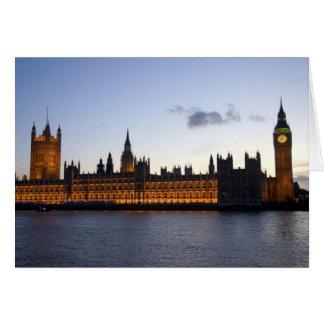 Big Ben y las casas del parlamento en la ciudad Tarjetas