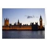 Big Ben y las casas del parlamento en la ciudad Tarjeta De Felicitación