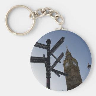 Big Ben y placa de calle Londres Llaveros Personalizados