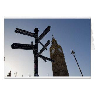 Big Ben y placa de calle Londres Felicitaciones