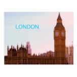 Big Ben y postal británica del parlamento