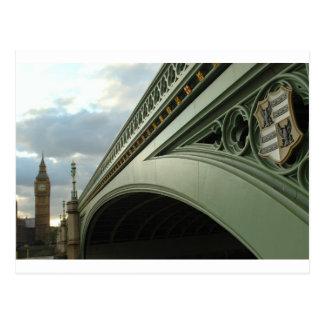 Big Ben y puente de Westminster Tarjetas Postales