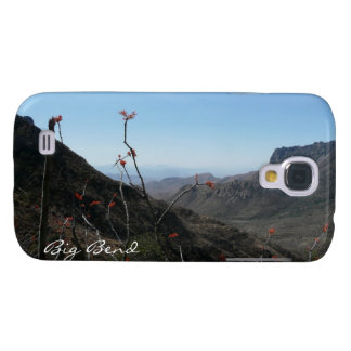 Big Bend-Mountains with Orange Flowers Galaxy S4 Cover