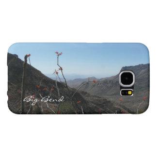 Big Bend-Mountains with Orange Flowers Samsung Galaxy S6 Case