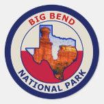 Big Bend National Park Round Stickers