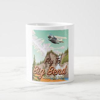 Big bend national park vintage travel poster giant coffee mug