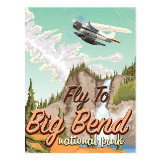 Big bend national park vintage travel poster postcard