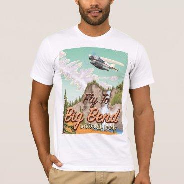 bartonleclaydesign Big bend national park vintage travel poster T-Shirt