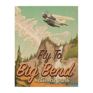 Big bend national park vintage travel poster wood wall art