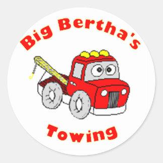 Big Bertha's Towing Classic Round Sticker