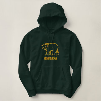 Big Big Bears In Montana Embroidered Hoodie