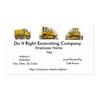 Big Big Bulldozer Dozer Business Cards