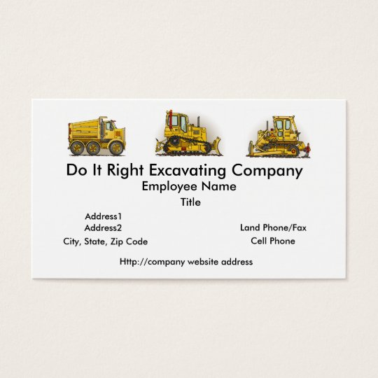 Big Big Bulldozer Dozer Business Cards