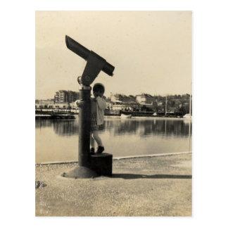 Big binocular postcard