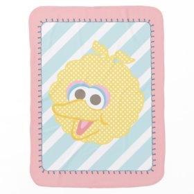Big Bird Baby Polka Dot Big Face Receiving Blankets