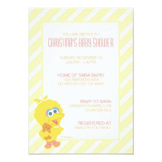 "Big Bird Baby Shower Invite 5"" X 7"" Invitation Card"