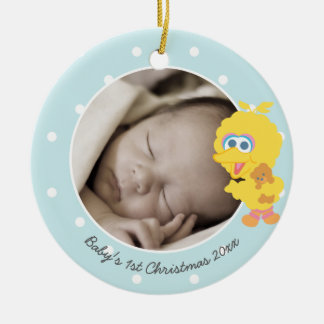 Big Bird | Baby's First Christmas - Add Your Name Ceramic Ornament