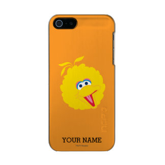 Big Bird Face | Add Your Name Metallic Phone Case For iPhone SE/5/5s