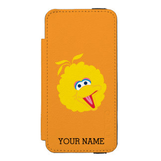 Big Bird Face | Add Your Name Wallet Case For iPhone SE/5/5s