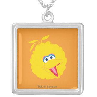 Big Bird Face Square Pendant Necklace