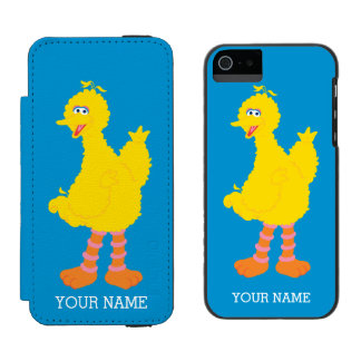 Big Bird Graphic | Add Your Name iPhone SE/5/5s Wallet Case