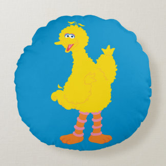 Big Bird Graphic Round Pillow