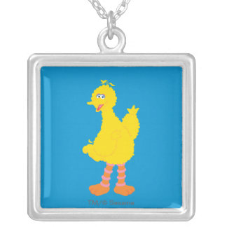Big Bird Graphic Silver Plated Necklace