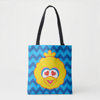 Big Bird Smiling Face with Heart-Shaped Eyes 2 Tote Bag