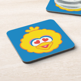 Big Bird Smiling Face with Heart-Shaped Eyes Drink Coaster