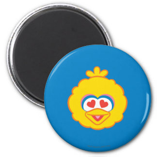 Big Bird Smiling Face with Heart-Shaped Eyes Magnet