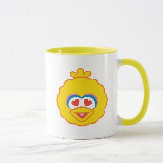 Big Bird Smiling Face with Heart-Shaped Eyes Mug