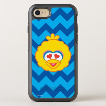 Big Bird Smiling Face with Heart-Shaped Eyes OtterBox Symmetry iPhone 8/7 Case