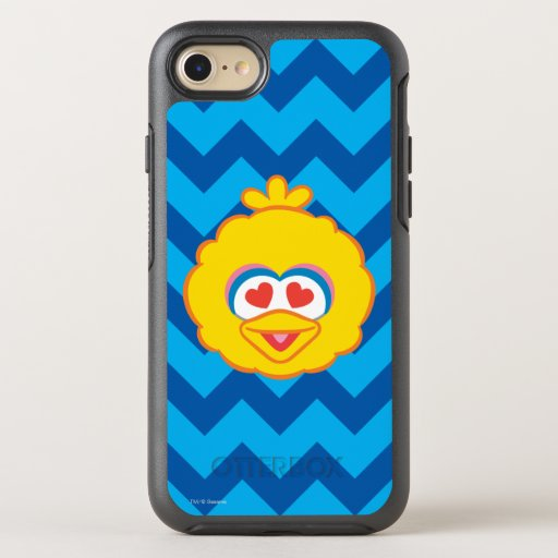 Big Bird Smiling Face with Heart-Shaped Eyes OtterBox Symmetry iPhone SE/8/7 Case