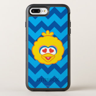 Big Bird Smiling Face with Heart-Shaped Eyes OtterBox Symmetry iPhone 8 Plus/7 Plus Case