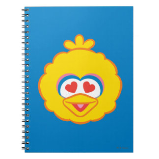 Big Bird Smiling Face with Heart-Shaped Eyes Spiral Notebook