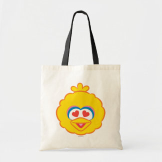 Big Bird Smiling Face with Heart-Shaped Eyes Tote Bag