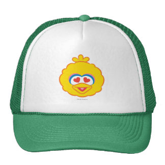 Big Bird Smiling Face with Heart-Shaped Eyes Trucker Hat