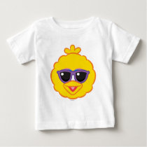 Big Bird Smiling Face with Sunglasses Baby T-Shirt