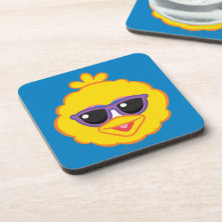Big Bird Smiling Face with Sunglasses Coaster