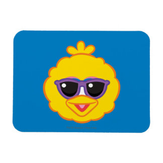 Big Bird Smiling Face with Sunglasses Magnet