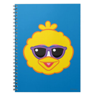 Big Bird Smiling Face with Sunglasses Spiral Notebook